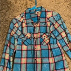 Ladies flannel style top